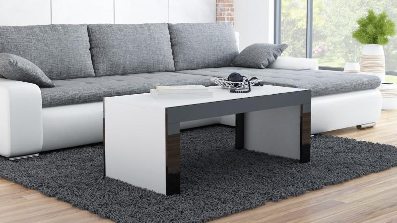 Cama TESS120 BI/CZ kavos staliukas, staliukas prie lovos, kitas mažas staliukas Stačiakampio 2 kojos